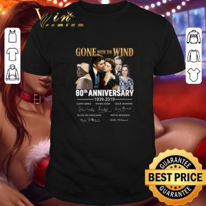 Official Gone with the wind 80th anniversary 1939-2019 signatures shirt