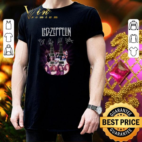 Official Led Zeppelin signatures two guitar shirt