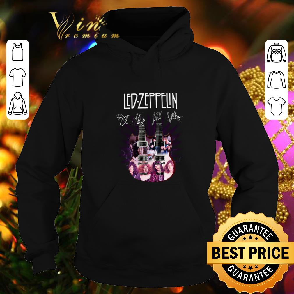 Official Led Zeppelin signatures two guitar shirt 4 - Official Led Zeppelin signatures two guitar shirt