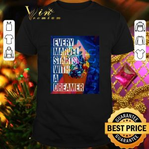 Official Leyth every Marvel starts with a dreamer shirt