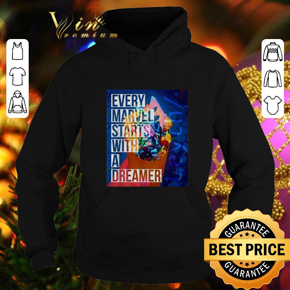 Official Leyth every Marvel starts with a dreamer shirt 4 - Official Leyth every Marvel starts with a dreamer shirt