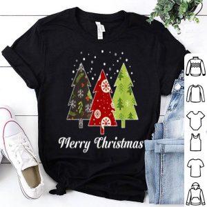 Official Merry Christmas Three Trees for Womens Mens Kids X-Mas Gift shirt