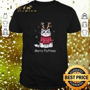 Official Merry Fluffmas cat Christmas shirt