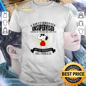Official Snoopy i am currently unsupervised i know it freaks me out too shirt