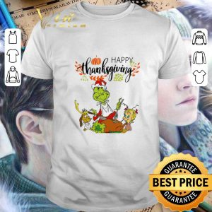 Official The Grinch Characters Happy Thanksgiving shirt