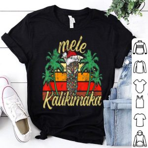 Original Christmas Mele Kalikimaka Tiki Santa Hat Hawaii shirt