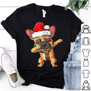 Original Dabbing French Bulldog Santa Christmas kids Gifts shirt