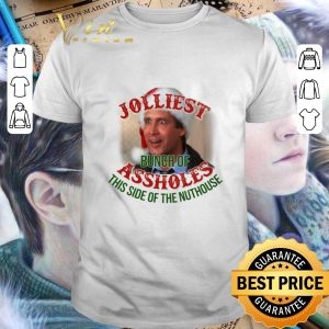 Original Jolliest bunch of assholes this side of the nuthouse Christmas shirt