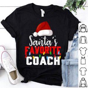 Original Santa's Favorite Coach Christmas Light Funny Xmas shirt
