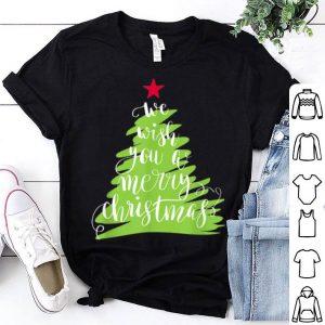 Original We Wish You A Merry Christmas Song Xmas Tree Holiday shirt