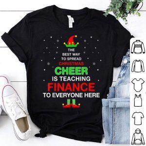 Premium Christmas Pajamas For Finance Teacher shirt