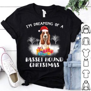 Premium Dreaming Of A Basset Hound Christmas Dog Funny Quote Gift shirt