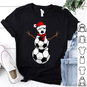 Premium Funny Christmas Soccer Balls Santa Snowman sweater