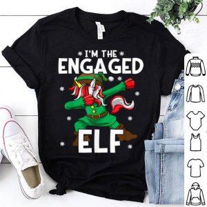 Premium I'm The Engaged Elf Unicorn Engagement Fiancee Christmas sweater