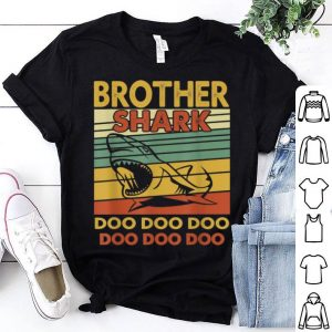 Premium Vintage Brother Shark Doo Doo Santa Christmas Matching Gift shirt