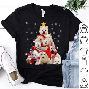 Premium Westie Christmas Tree Xmas Gift For Westie Dog shirt