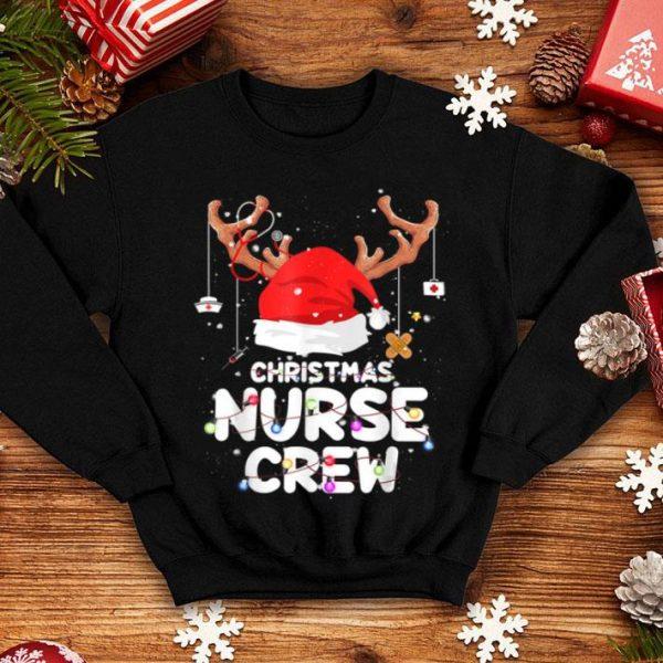 Pretty Christmas Nurse Crew Santa Hat Reindeer Merry Christmas gift shirt