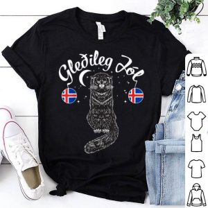 Pretty Gledileg Jol Iceland Merry Christmas Jolakotturinn Yule Cat shirt