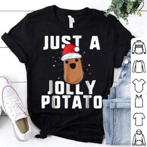 Top Just A Jolly Potato Funny Sweet Potato Christmas sweater