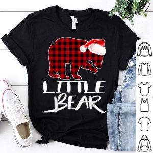 Top Little BEAR Red Plaid Christmas Pajama Matching Family Gift shirt