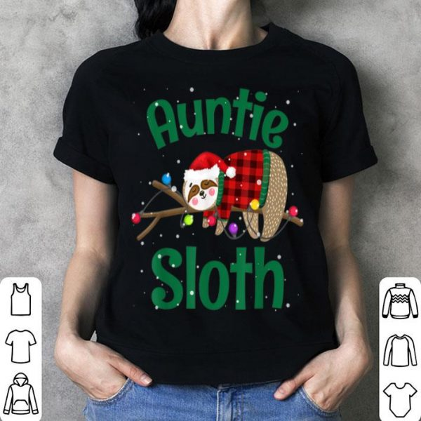 Top Matching Sloth Family Christmas Pajamas Gift For Auntie shirt