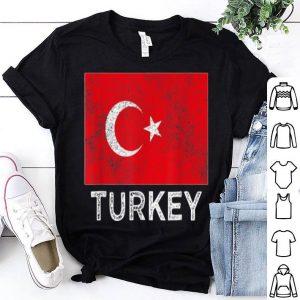 Top Turkey National flag distressed for men women kids shirt