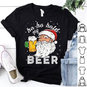 Awesome Ho Ho Hold My Beer Christmas Drinking Santa Gift sweater
