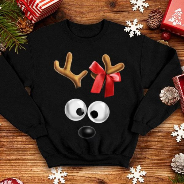 Awesome Matching Family Christmas Reindeer Face for Girls sweater