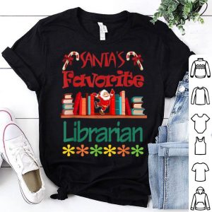 Beautiful Santa's Favorite Librarian Christmas Xmas Holiday sweater