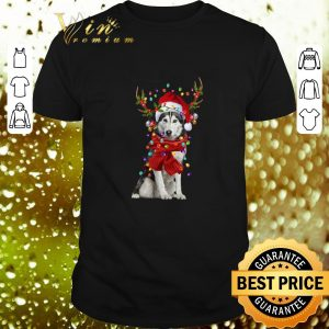 Cool Husky Reindeer Christmas shirt