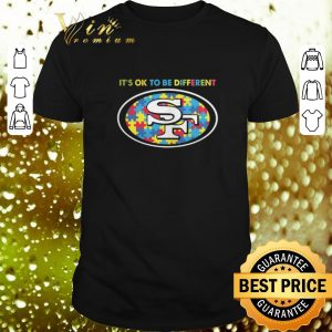 Cool It's ok to be different San Francisco 49ers Autism Awareness shirt