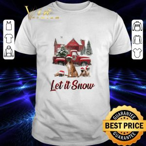 Cool Santa Boxer Let It Snow Christmas shirt