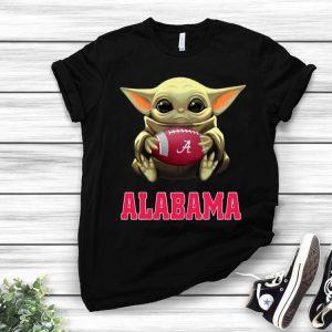 Football Baby Yoda Alabama Crimson Tide shirt