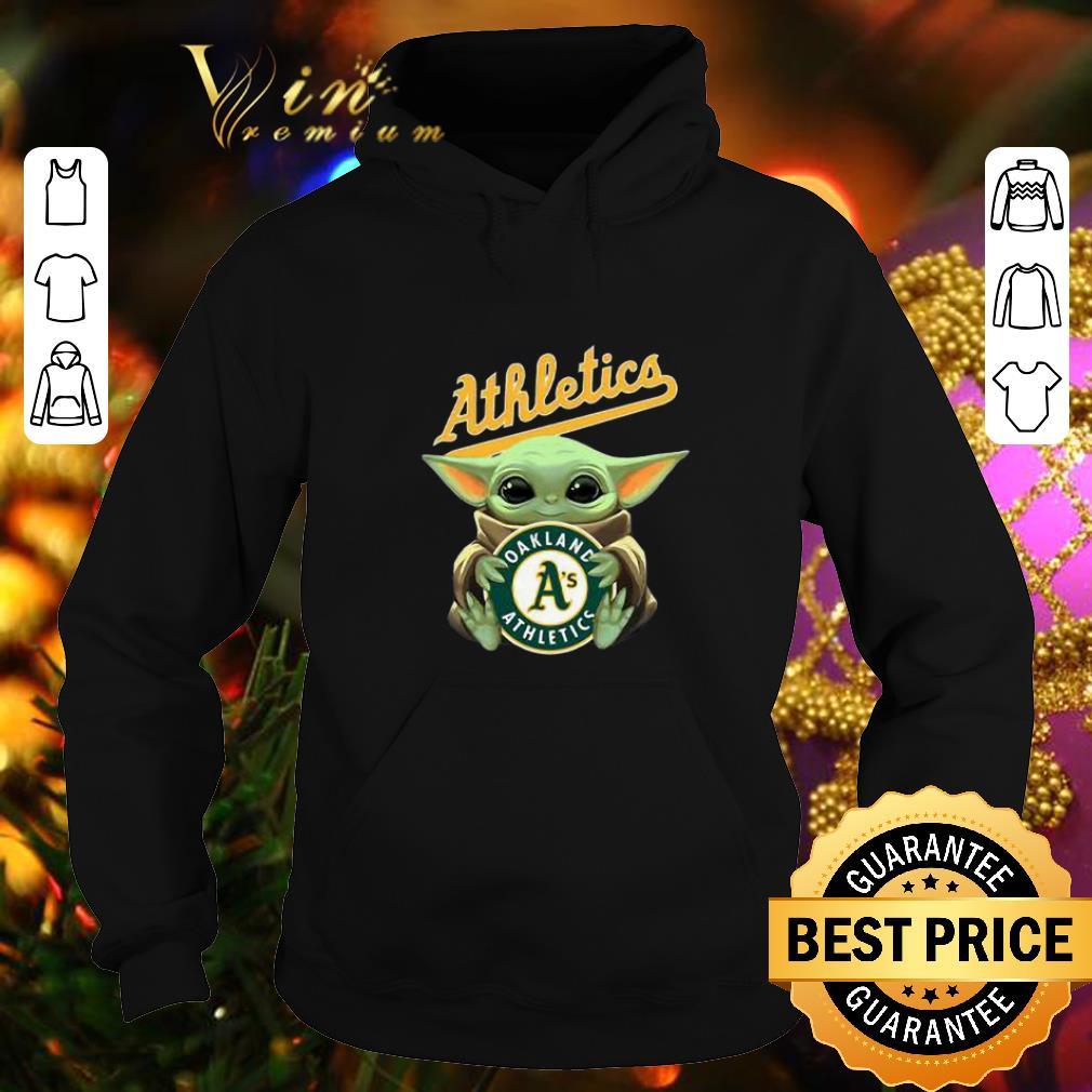 Nice Baby Yoda Hug Oakland Athletics Star Wars shirt 4 - Nice Baby Yoda Hug Oakland Athletics Star Wars shirt