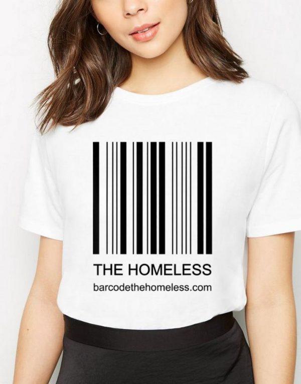 Nice Bar Code Because We Care The Homeless shirt