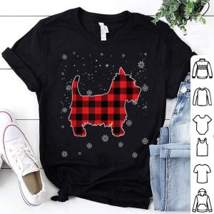 Nice Westie Red Plaid Pajamas Christmas Gifts For Dog Lover sweater