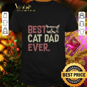 Official Best Cat Dad Ever Cat With Glasses Version shirt