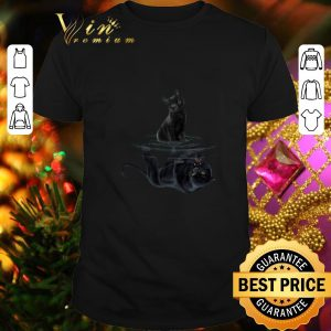 Official Black cat water mirror reflection black panther shirt