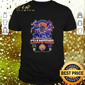 Official Boise State Broncos signed 2019 Mountain West Football Champions shirt