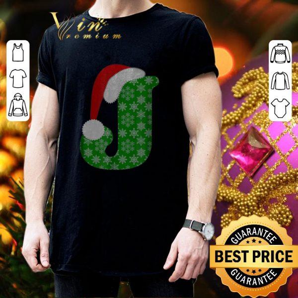 Official Christmas Santa Hat Monogram Letter J Holiday Gift shirt