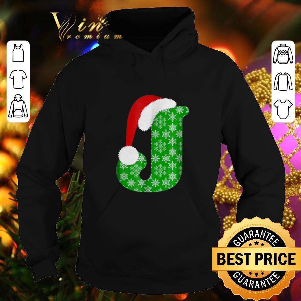 Official Christmas Santa Hat Monogram Letter J Holiday Gift shirt 4 - Official Christmas Santa Hat Monogram Letter J Holiday Gift shirt