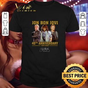 Official Jon Bon Jovi 45th Anniversary 1975 2020 Signature shirt