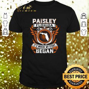 Official Paisley Florida it's where my story began shirt