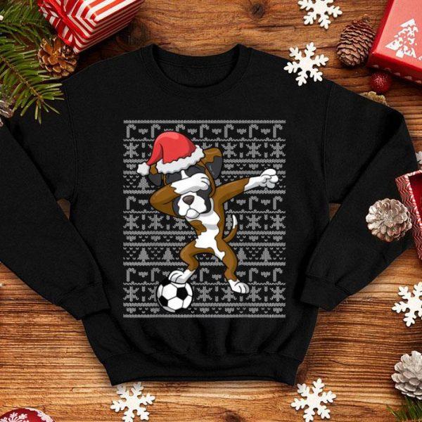 Official Soccer Ugly Christmas Dabbing Boxer Dog Santa Dab Gift sweater