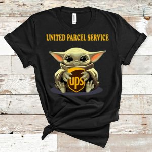 Official Star Wars Baby Yoda Hug United Parcel Service shirt