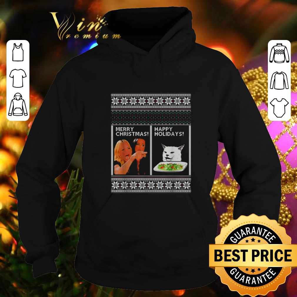Official Woman yelling at cat happy holiday ugly Merry Christmas sweater 4 - Official Woman yelling at cat happy holiday ugly Merry Christmas sweater