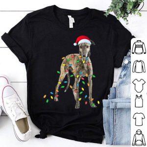 Original Christmas Greyhound Gift - Greyhound Funny Santa Hat Xmas sweater