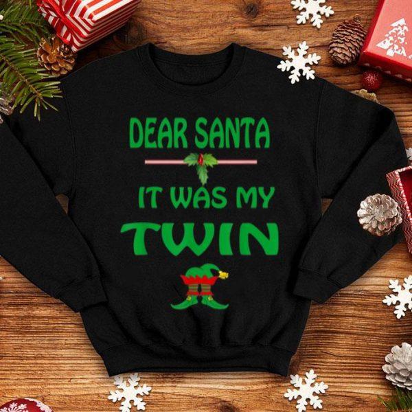 Original Christmas Humor It Was My Twin Funny Sayings Ugly Christmas sweater