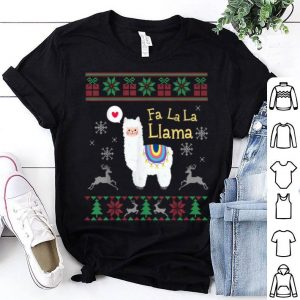 Original Fa La La Llama Ugly Christmas Sweater Style Llama Christmas sweater