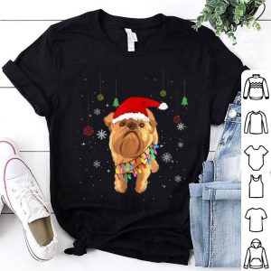 Premium Cute Brussels Griffon Santa Hat Christmas Dog Gift sweater
